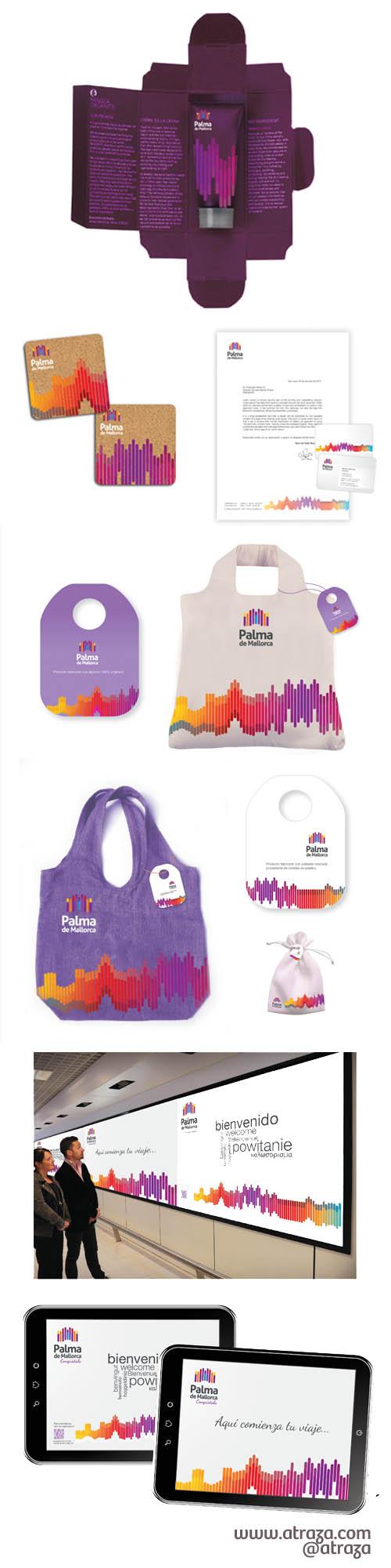 Materiales de promoción Palma de Mallorca (www.atraza.com)